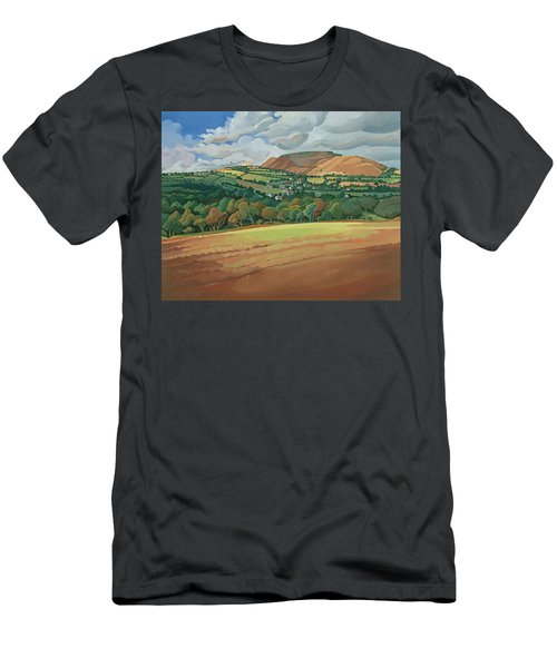 From The Train South Devon, No.2 Oil On Canvas Men's T-Shirt (Athletic Fit)