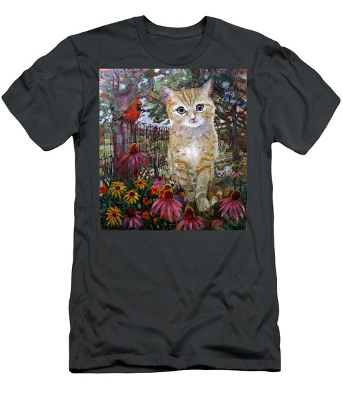 Front Yard Kitty Men's T-Shirt (Athletic Fit)