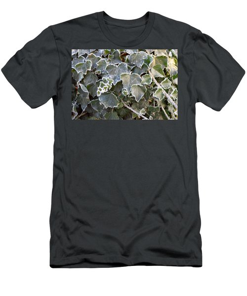 Men's T-Shirt (Slim Fit) featuring the painting Frozen Hedera Helix 2 by Felicia Tica