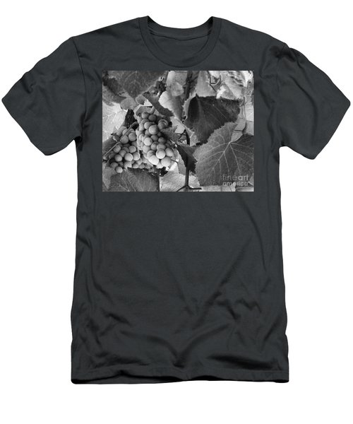 Fruit -grapes In Black And White - Luther Fine Art Men's T-Shirt (Athletic Fit)