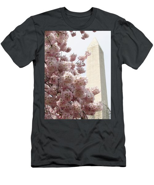 Full Bloom In Dc Men's T-Shirt (Slim Fit) by Jennifer Wheatley Wolf