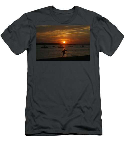 Fun At Sunset Men's T-Shirt (Athletic Fit)