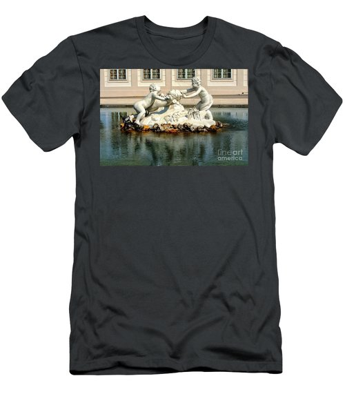 Men's T-Shirt (Slim Fit) featuring the photograph Fun On The Water by Mariola Bitner