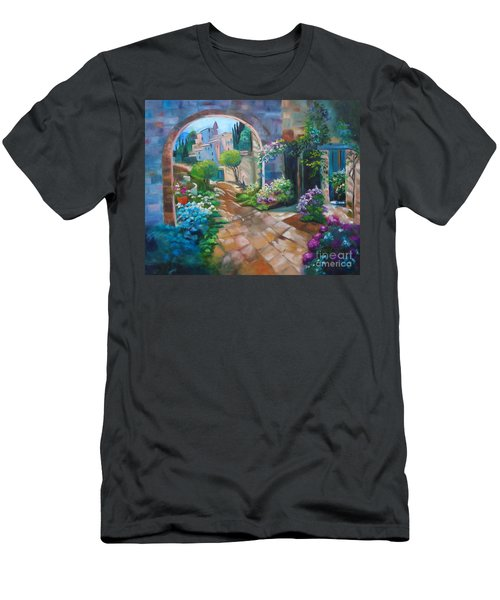 Garden Courtyard Men's T-Shirt (Athletic Fit)