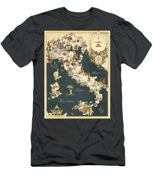 Gastronomic Map Of Italy 1949 Men's T-Shirt (Athletic Fit)