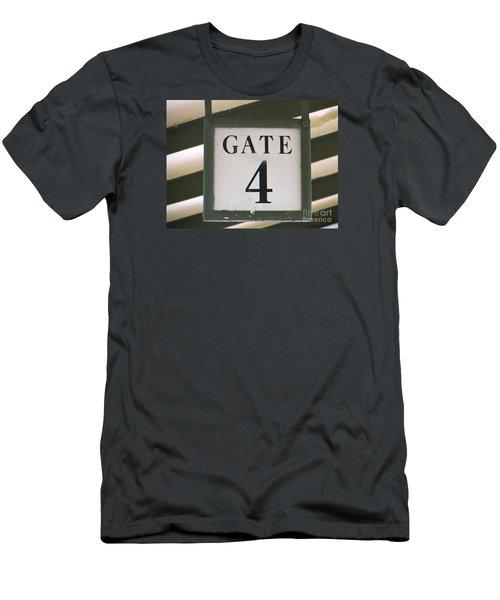 Gate #4 Men's T-Shirt (Slim Fit) by Joy Hardee