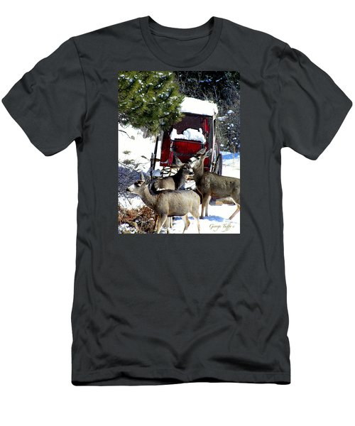 Gathering At The Old Stage Coach.. Men's T-Shirt (Athletic Fit)