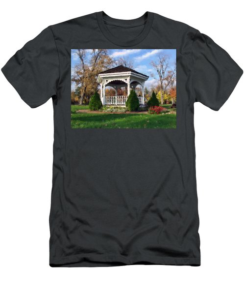 Gazebo At Olmsted Falls - 1 Men's T-Shirt (Athletic Fit)