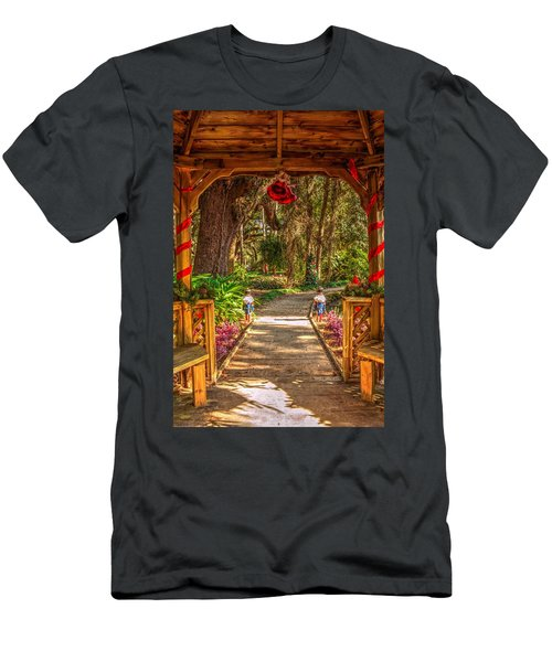 Men's T-Shirt (Athletic Fit) featuring the photograph Gazebo Bells by Tyson Kinnison