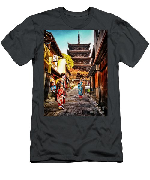Geisha Temple Men's T-Shirt (Athletic Fit)