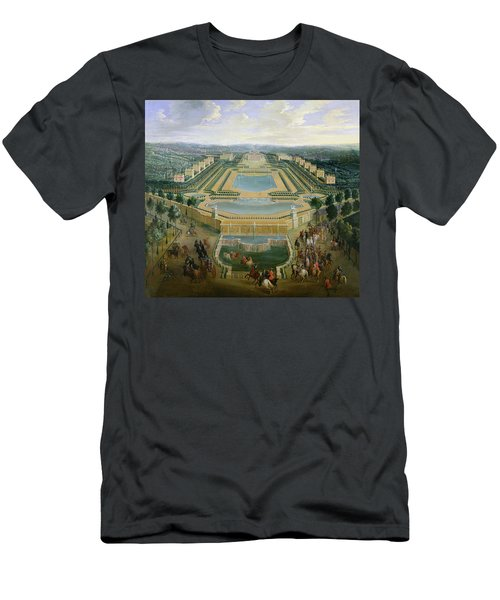 General View Of The Chateau And The Pavilions At Marly, 1722 Oil On Canvas Men's T-Shirt (Athletic Fit)
