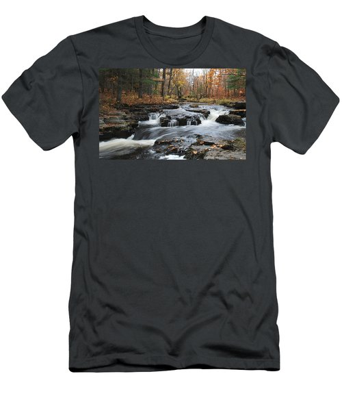 Gently Falling Downstream  Men's T-Shirt (Athletic Fit)