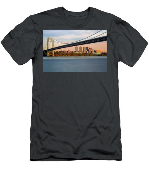 George Washington Bridge In Autumn Men's T-Shirt (Athletic Fit)