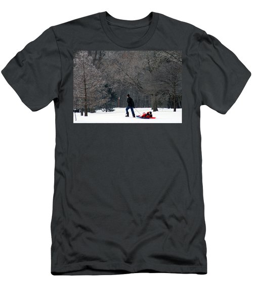 Men's T-Shirt (Slim Fit) featuring the photograph Getty-up Daddy by Kay Novy