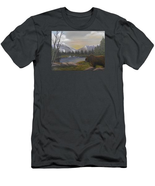Ghost Bear-the Cascade Grizzly Men's T-Shirt (Slim Fit) by Sheri Keith