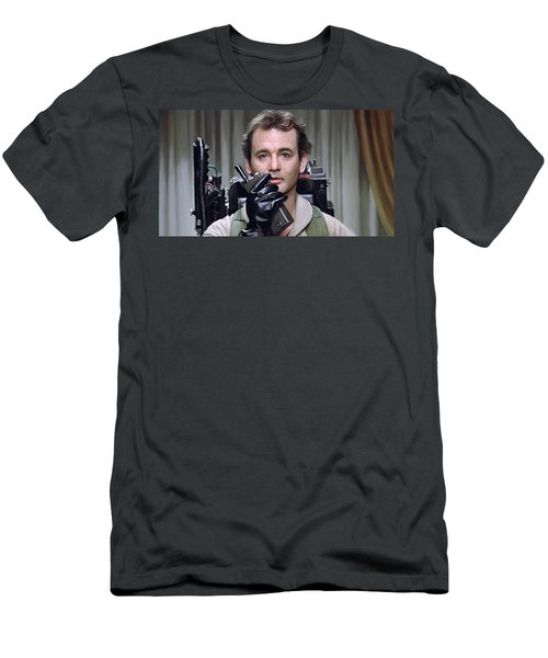 Men's T-Shirt (Slim Fit) featuring the painting Ghostbusters - Bill Murray Artwork 1 by Sheraz A
