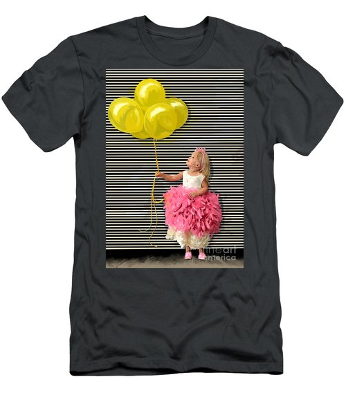 Gillian With Yellow Balloons Men's T-Shirt (Slim Fit)