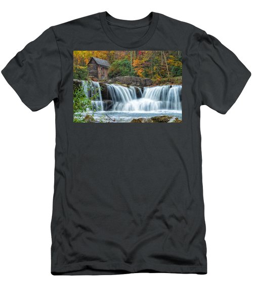 Glade Creek Grist Mill And Waterfalls Men's T-Shirt (Athletic Fit)