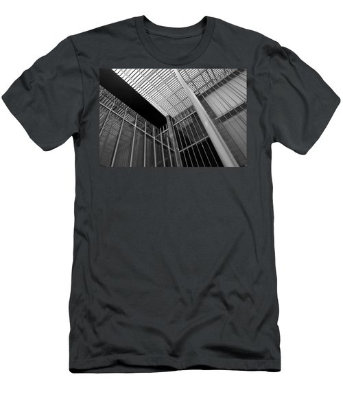 Glass Steel Architecture Lines Black White Men's T-Shirt (Athletic Fit)