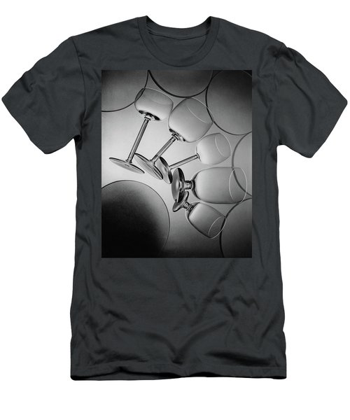 Glassware Layed Out On A Glass Table Men's T-Shirt (Athletic Fit)