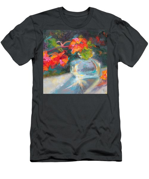 Gleaning Light Nasturtium Still Life Men's T-Shirt (Athletic Fit)