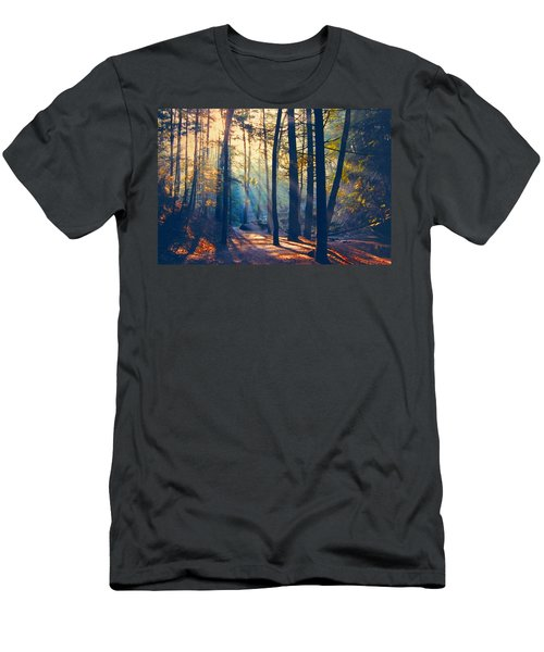 Glorious Forest Morning Men's T-Shirt (Slim Fit) by Diane Alexander