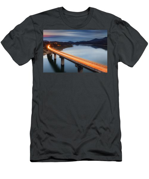 Glowing Bridge Men's T-Shirt (Athletic Fit)