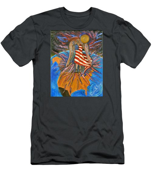 Men's T-Shirt (Slim Fit) featuring the painting God Shed His Grace On Thee by Cassie Sears