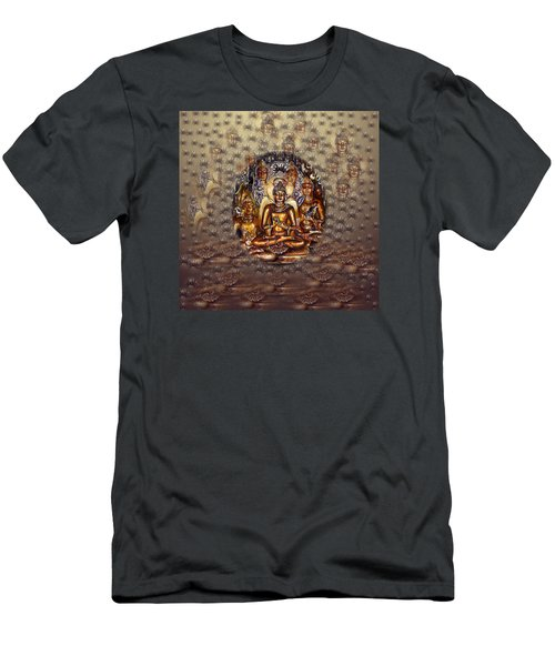 Gold Buddha Men's T-Shirt (Athletic Fit)