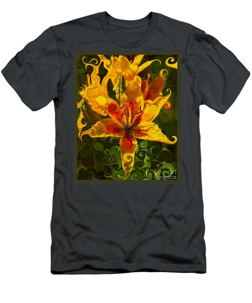 Men's T-Shirt (Athletic Fit) featuring the painting Golden Beauties by Omaste Witkowski