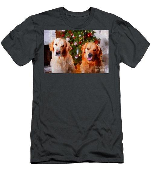 Golden Christmas Men's T-Shirt (Athletic Fit)