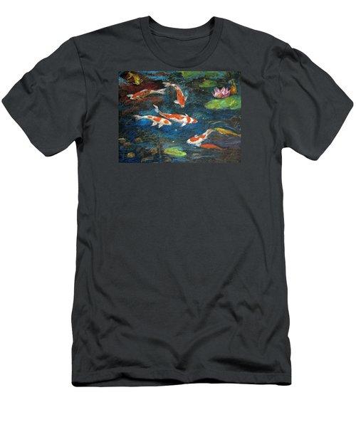 Golden Fish Men's T-Shirt (Slim Fit) by Jieming Wang