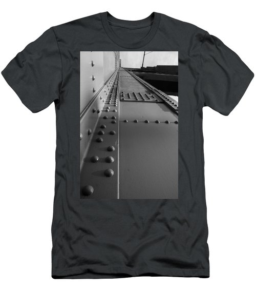 Men's T-Shirt (Athletic Fit) featuring the photograph Golden Gate  Abstract by Aidan Moran