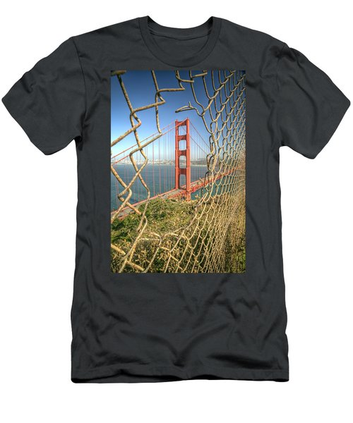 Golden Gate Through The Fence Men's T-Shirt (Athletic Fit)