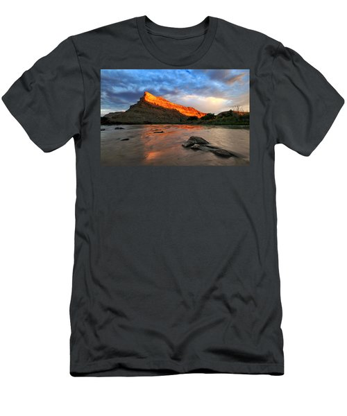 Men's T-Shirt (Slim Fit) featuring the photograph Golden Highlights by Ronda Kimbrow