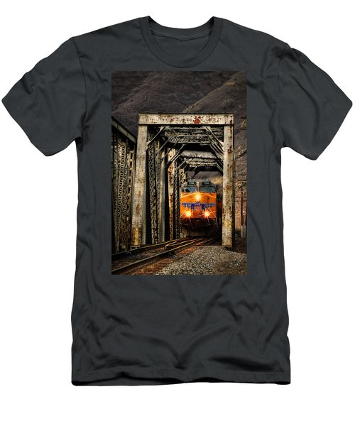 Men's T-Shirt (Slim Fit) featuring the photograph Golden Hour Crossing by Ken Smith
