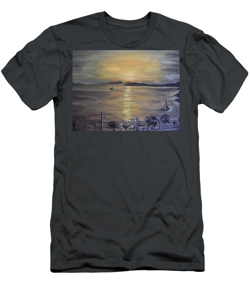 Golden Sea View Men's T-Shirt (Athletic Fit)
