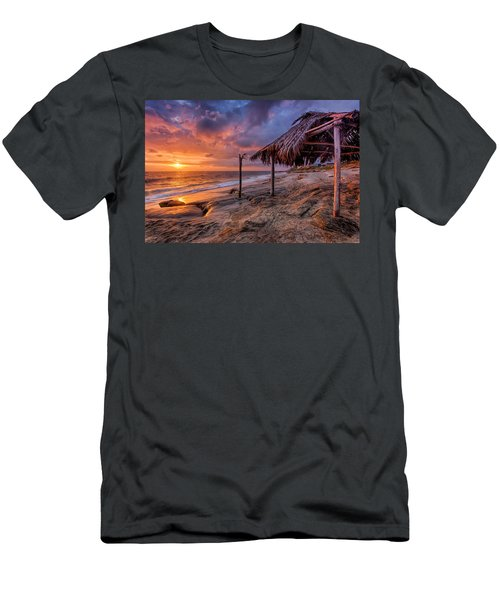 Golden Sunset The Surf Shack Men's T-Shirt (Athletic Fit)