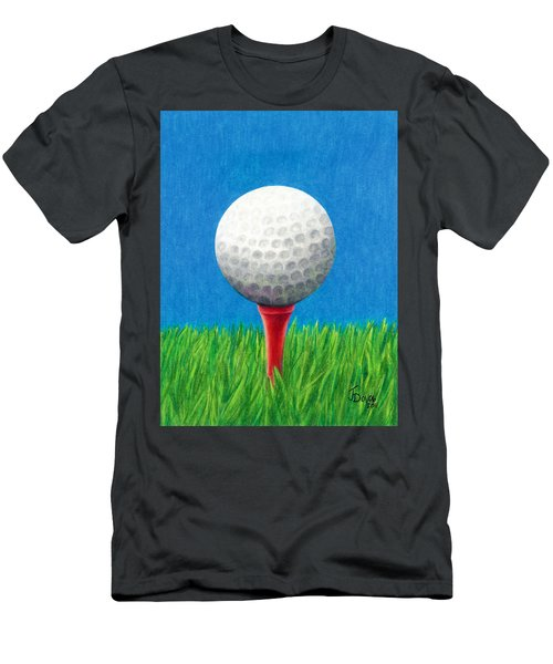 Golf Ball And Tee Men's T-Shirt (Athletic Fit)