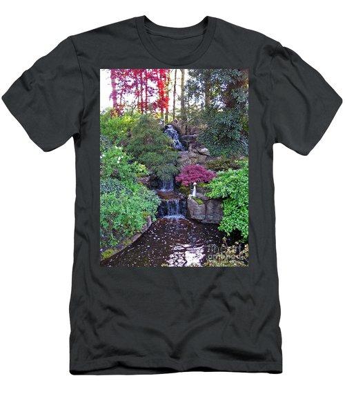 Men's T-Shirt (Athletic Fit) featuring the photograph Gone Fishing. Keukenhof Gardens. Holland by Ausra Huntington nee Paulauskaite