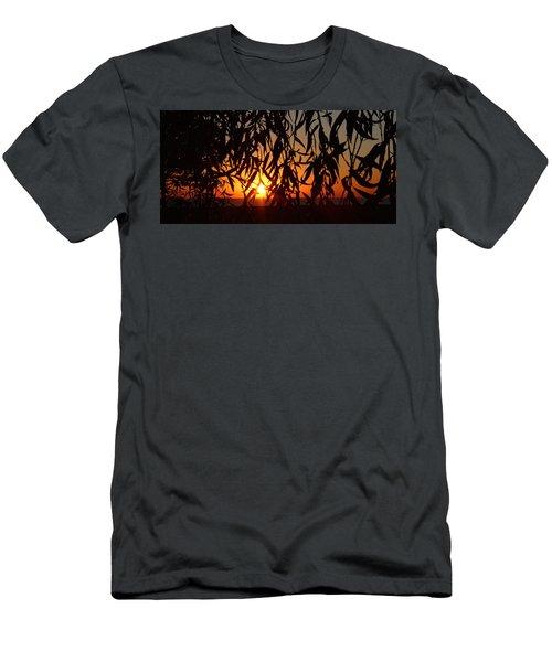 Good Morning Lake Michigan Men's T-Shirt (Slim Fit) by Tiffany Erdman
