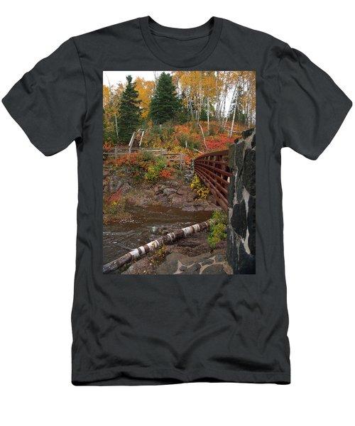 Men's T-Shirt (Athletic Fit) featuring the photograph Gooseberry Bridge by James Peterson