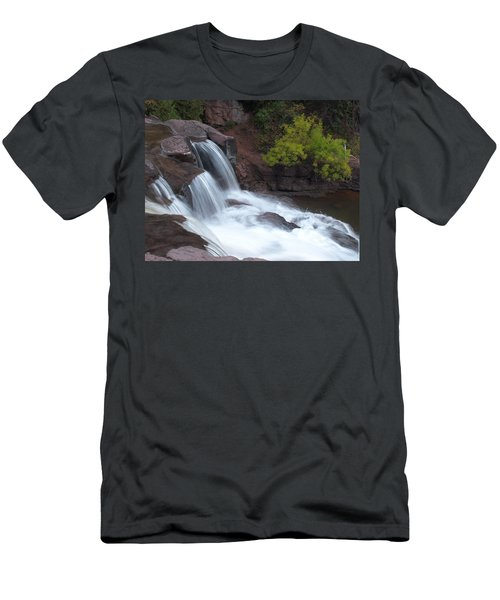 Men's T-Shirt (Slim Fit) featuring the photograph Gooseberry Falls In Slow Motion by James Peterson