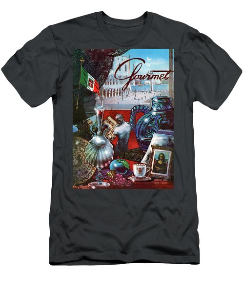 Gourmet Cover Featuring A Variety Of Italian Men's T-Shirt (Athletic Fit)