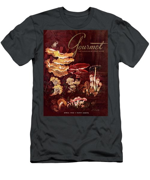 Gourmet Cover Featuring Wild Mushrooms Men's T-Shirt (Athletic Fit)