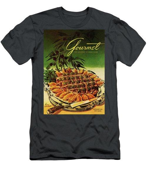 Gourmet Cover Illustration Of Entrecote A La Men's T-Shirt (Athletic Fit)