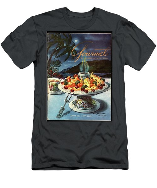 Gourmet Cover Illustration Of Fruit Dish Men's T-Shirt (Athletic Fit)