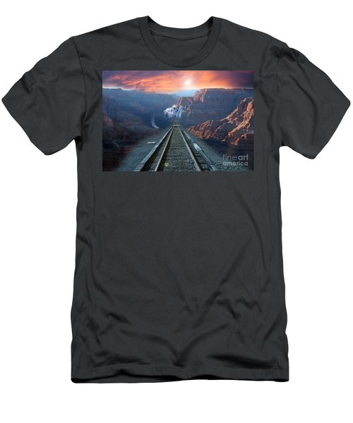 Men's T-Shirt (Athletic Fit) featuring the photograph Grand Canyon Collage by Gunter Nezhoda