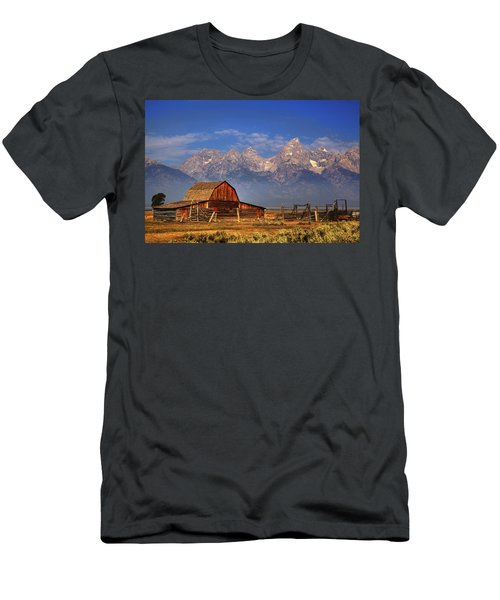 Grand Tetons From Moulton Barn Men's T-Shirt (Athletic Fit)