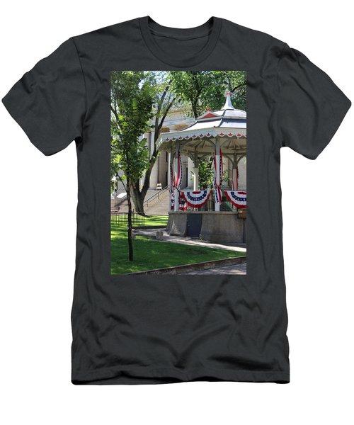 Men's T-Shirt (Slim Fit) featuring the photograph Grandstand Patriotism  by Natalie Ortiz